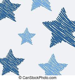 bleu, art, étoiles, fond