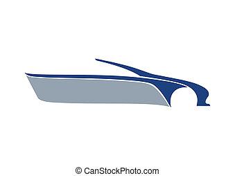 bleu, auto, texte, logo, secteur