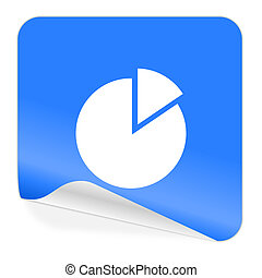 bleu, autocollant, diagramme, icône