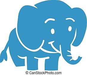 bleu bébé, éléphant