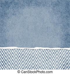 bleu, backgr, carrée, grunge, déchiré, zigzag, chevron, ...