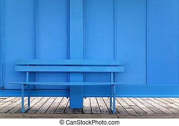 bleu, banc