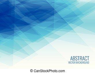 bleu, bannière, conception abstraite, géométrique