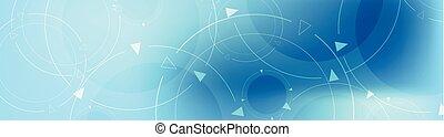 bleu, bannière, conception abstraite, technologie, minimal