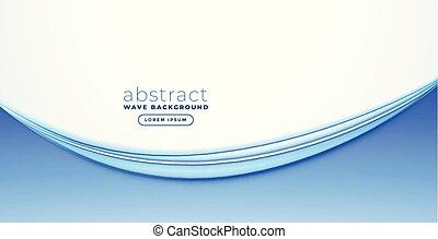 bleu, bannière, conception abstraite, vague