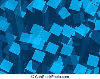 bleu, barres, enchevêtrement