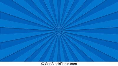 bleu, beams., tourner, loopable., fond, animé