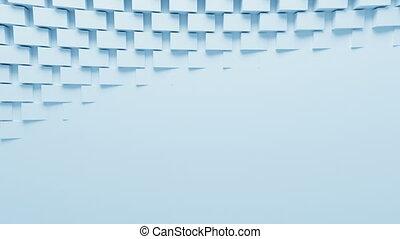 bleu, beau, fait boucle, animation., engendré, écran, process., boîtes, mouvement, arrière-plan., rotation, informatique, conception, hd, 3d, ultra, résumé, 3840x2160., 4k