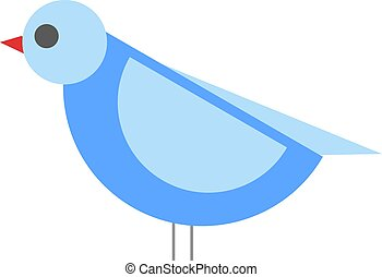 bleu bird illustration vector flat design