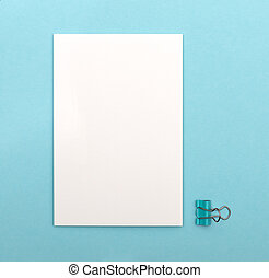 bleu, blanc, carte, fond, vide