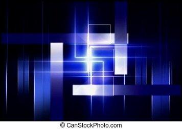 bleu, blanc, colonnes, géométrique, fond