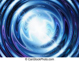 bleu, blanc, flash, arrière-plans, vagues