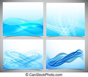bleu, blanc, moderne, arrière-plans, futuriste