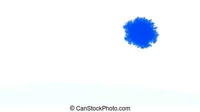 bleu, blanc, réagir, papier, encre