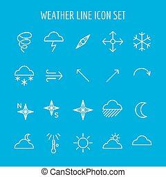 bleu, blanc, temps, ligne, icône