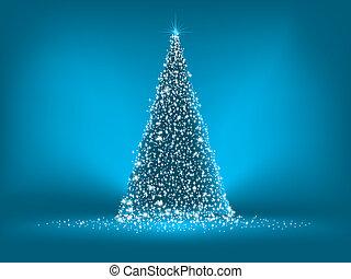 bleu, blue., résumé, arbre, eps, 8, noël