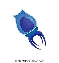 bleu, body., illustration, arrière-plan., vecteur, plancton,...
