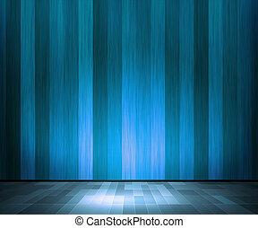 bleu, bois, intérieur