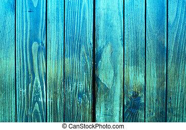 bleu, bois, retro, fond