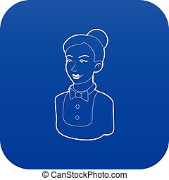 bleu, bonne, vecteur, icône