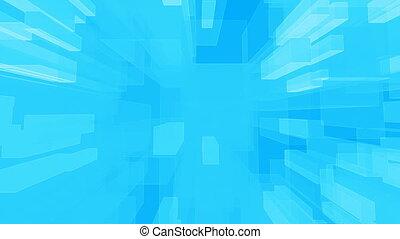 bleu, boucle, géométrique
