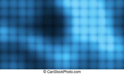 bleu, boucle, mur, carrée
