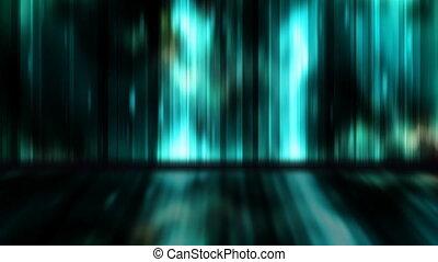 bleu, boucle, mur, exposer, vert