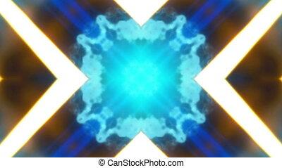 bleu, boucle, or, vj