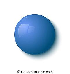 bleu, bouton, lustré