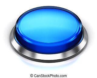 bleu, bouton, rond
