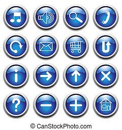 bleu boutonne, symbols.