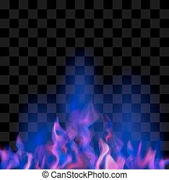 bleu, brûler, flamme, brûlé