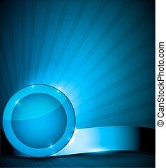 bleu, brochure, conception, gabarit