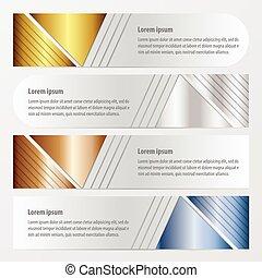 bleu, bronze, couleur, or, conception, argent, bannière