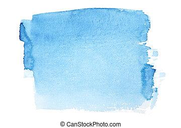 bleu, brosse aquarelle, coups
