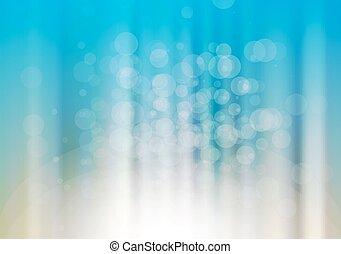 bleu, brouillé, vecteur, fond