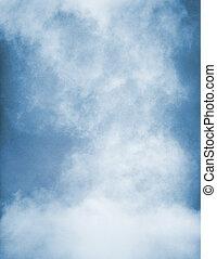 bleu, brouillard, texture