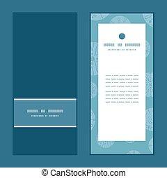 bleu, brun, ensemble, cercles, vertical, vendange, résumé, dos, salutation, vecteur, invitation, cartes, modèle, cadre
