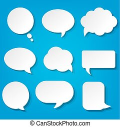 bleu, bulles, ensemble, parole, fond