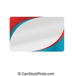 bleu, business, conception, rouges, argent, carte