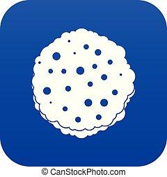 bleu, côtelettes, icône, numérique