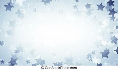 bleu, cadre, étoiles, boucle, fond