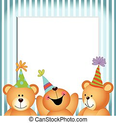 Ours Joyeux Anniversaire Teddy Teddy Image Vectorial Ours