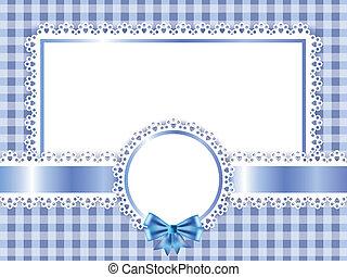 bleu, cadre, vecteur, enfants, fond