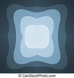 bleu, cadre