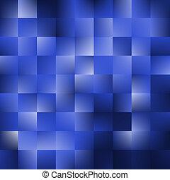 bleu, carrés, fond