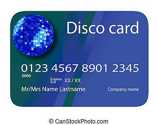 bleu, carte de débit, disco