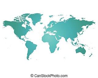 bleu, carte, silhouette, gradient, illustration, vecteur, fond, blanc, world.