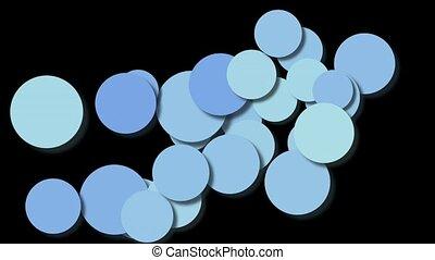 bleu, cercle, boucle, modèle