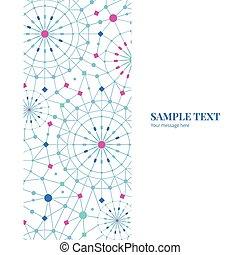 bleu, cercles, art, vertical, modèle, résumé, seamless, vecteur, fond, ligne, cadre